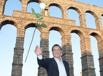 El escritor Claudio Magris, ayer en Segovia.
