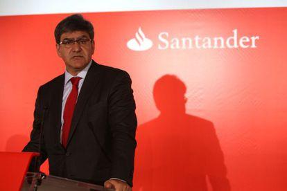José Antonio Álvarez, consejero delegado de Banco Santander, durante la rueda de prensa