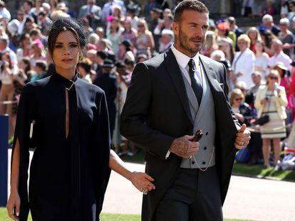 Victoria y David Beckham, en la boda de los duques de Sussex.