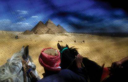 Imagen tomada en Egipto, con un velo sobre la lente.