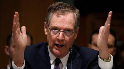 Robert Lighthizer en su testimonio ante el Senado de EE UU