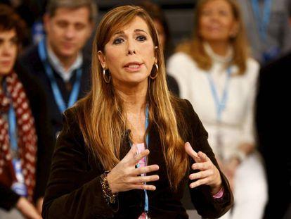Alicia Sánchez-Camacho, en un acto de campaña del PP.