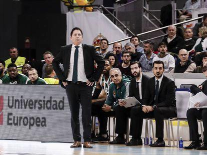 Xavi Pascual, en su último partido como técnico del Panathinaikos, ante el Real Madrid.