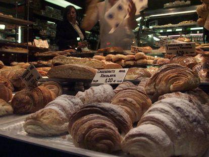 Dulces en una pastelería de Barcelona.