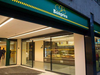 Un supermercado de Bonpreu en el barrio de Les Corts de Barcelona