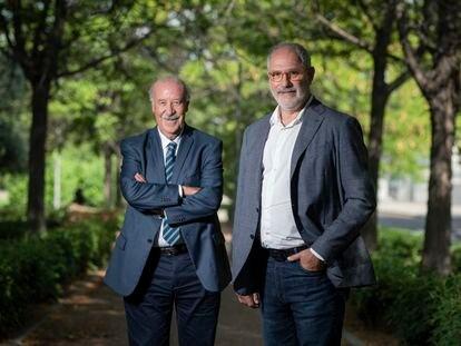 Vicente del Bosque y Andoni Zubizarreta, en Madrid.