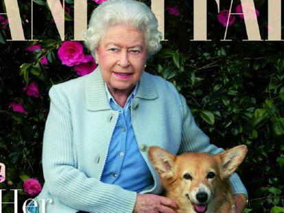 Retrato de la reina Isabel para 'Vanity Fair', en la imagen difundida en su cuenta de Twitter.