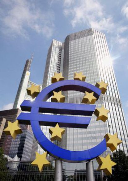 Fachada de la sede del BCE en Fráncfort.