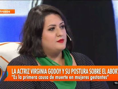 La actriz Virginia Godoy en 'Intrusos' este lunes.