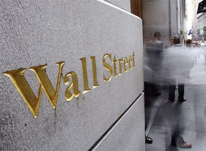 Wall Street, corazón financiero de Nueva York, en el sur de Manhattan.