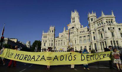 Manifestaciones contra la ley mordaza en Madrid.