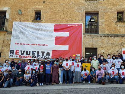 Un grupo de participantes en el encuentro de este fin de semana de la España Vaciada.