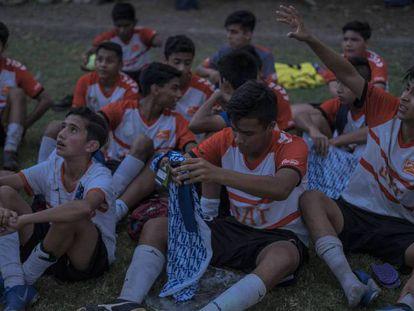 En vídeo: el fútbol para la paz en Tamaulipas. En foto: algunos de los niños de las academias de Correcaminos en Ciudad Victoria.