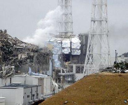 La central de Fukushima, devastada por el tsunami.