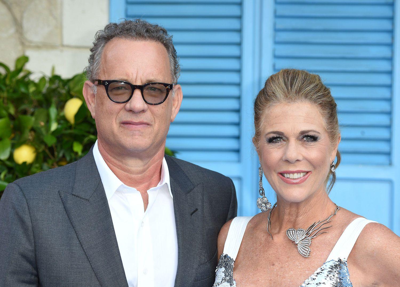 Tom Hanks y Rita Wilson, en un estreno en Londres en julio de 2018.