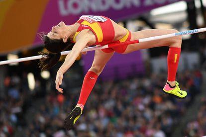 La saltadora cántabra Ruth Beitia fue la primera mujer española en conseguir la medalla de oro en atletismo en los Juegos Olímpicos de 2016