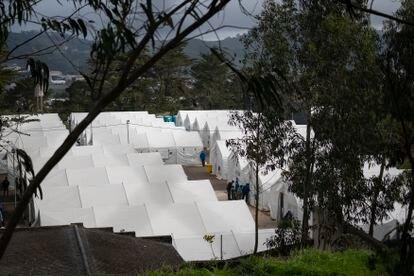 El campamento de Las Raíces el pasado 18 de marzo.