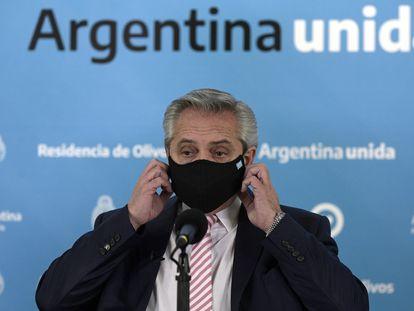 El presidente argentino, Alberto Fernández, en una imagen de agosto de este año.