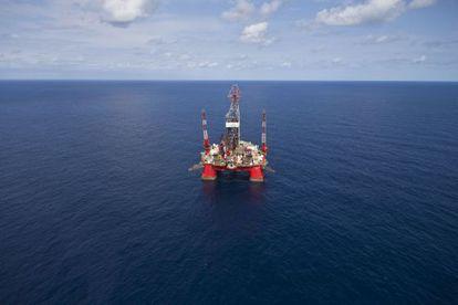 Una plataforma petrolífera en el Golfo de México.