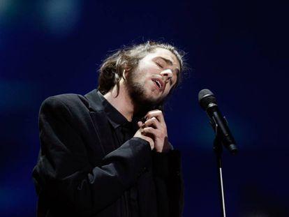 Salvador Sobral, en su actuación en Eurovisión el pasado 13 de mayo en Kiev (Ucrania).