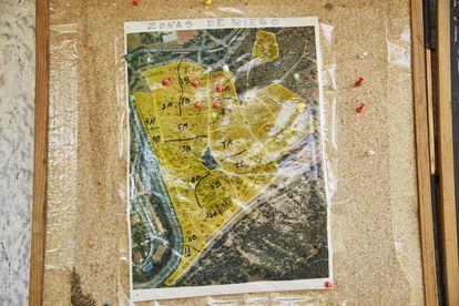 Mapa del Parque de los Alcornoques, también conocido como Parque Sur.