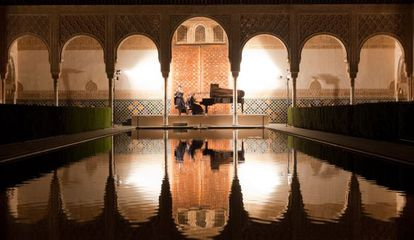 Concierto de Tabea Zimmermann y Silke Avenhaus en la Alhambra.