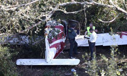 Avioneta accidentada junto a la AP-9.