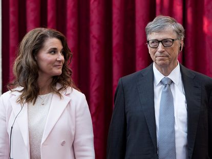 Bill y Melinda Gates, en París en 2017.