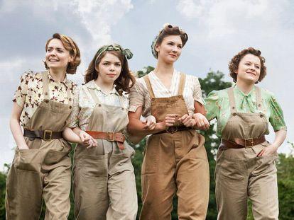 Las protagonistas de la serie 'Land Girls'.