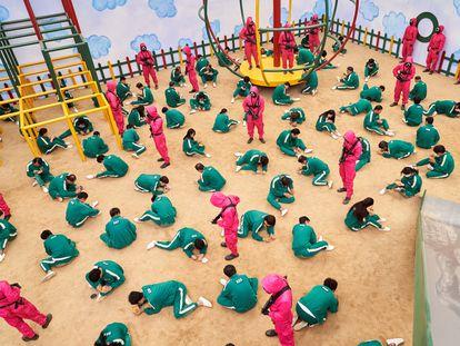 Uno de los momentos de la serie 'El juego del calamar', estrenada en Netflix en septiembre.