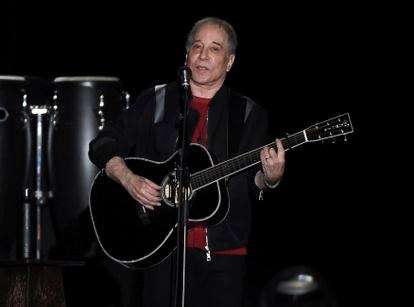 Paul Simon performs during the final stop of his tour 'Homeward Bound - The Farewell Tour', on September 22, 2018, in New York.