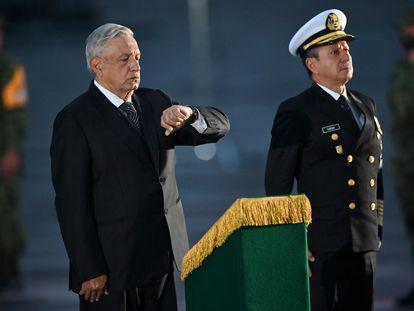 El presidente López Obrador junto al almirante Rafael Ojeda, durante un acto oficial el pasado 17 de septiembre.