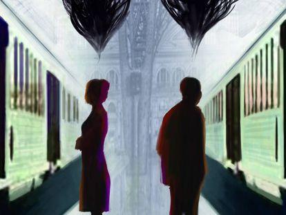 Fragmento de la portada del libro 'El silencio de los espíritus', de Wilfried N'Sonde.