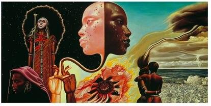 Portada del álbum 'Bitches Brew', de Miles Davis de 1970.