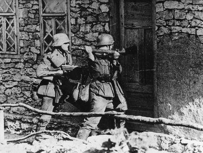 Tropas alemanes durante la Operación Barbarroja, en el verano de 1941.