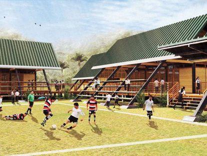 Escuela del Plan Selva en la Amazonía peruana.