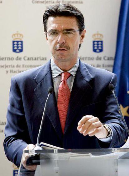 José Manuel Soria, durante la rueda de prensa en la que ha ofrecido una valoración de los Presupuestos Generales.