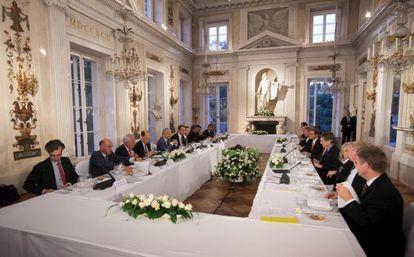 La reunión del ministros del Grupo de Reflexión sobre el futuro de la Unión Europea.