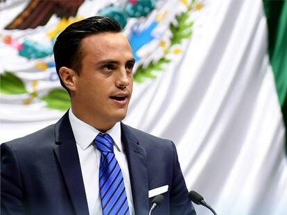 Oscar Daniel Martínez Terrazas durante una sesión en la Cámara de Diputados.