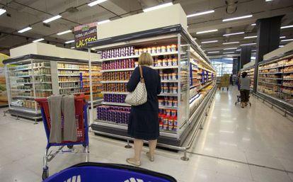 Clientas en un supermercado de Buenos Aires.