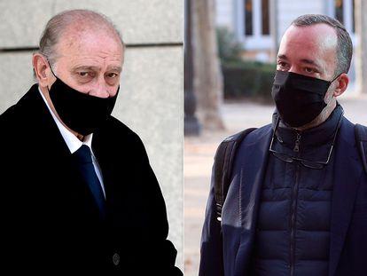 Jorge Fernández Díaz y Francisco Martínez, a las puertas de la Audiencia el pasado 14 de noviembre.