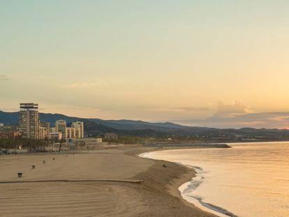 Playa del Varador de Mataró, en una imagen de archivo.