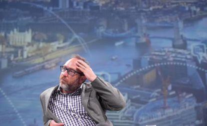 Jimmy Wales, durante su reciente visita a Madrid.