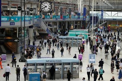 Waterloo Station en Londres el 14 de julio.