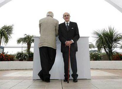 El actor Michel Piccoli y el director portugués Manoel de Oliveira.
