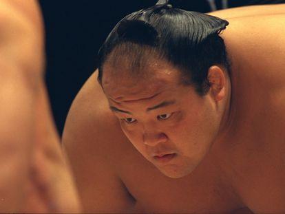 Escena de un torneo de sumo celebrado en París en 1995.
