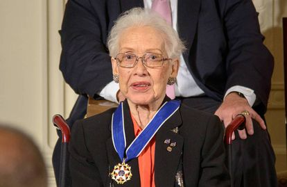 Katherine Johnson, con la Medalla Presidencial de la Libertad.