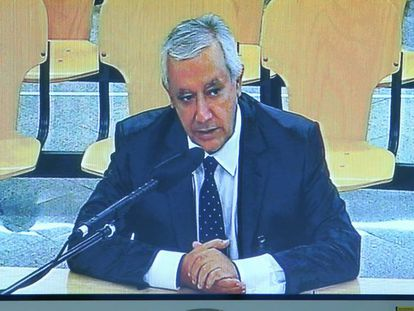 Javier Arenas, durante su declaración en el juicio del caso Gürtel.