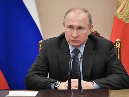 Vladímir Putin, este jueves en Moscú.