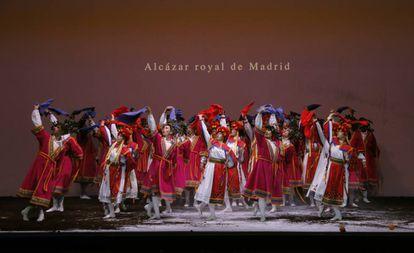 """El Alcázar de Madrid, una de las """"extinciones"""" recordadas por Romeo Castellucci en su montaje."""